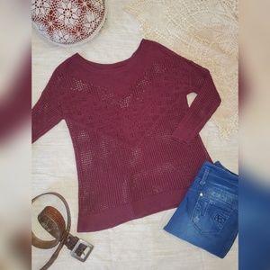 🎀2 for $25🎀American Eagle crochet 3/4 sleeve top